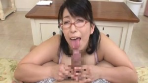 Tit-fuck and Blowjob with Japanese MILF