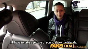 FakeTaxi Caught on camera with her knickers down