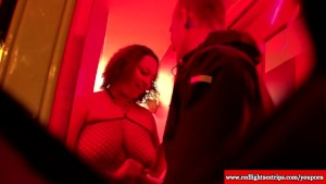 Real dutch BBW hooker gets horny