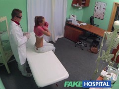 FakeHospital Nympho brunette teen is back in doctors office