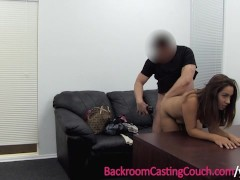 Assfuck & Anal Creampie on Casting Couch