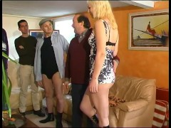 Young babe fucked by some older men - Telsev