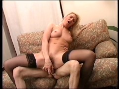Busty blonde chick gets laid - Telsev