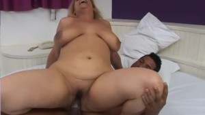 BBW goes solo until she's greeted by a hard cock