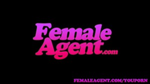 FemaleAgent Lucky stud fucks fast and furiously on agents desk
