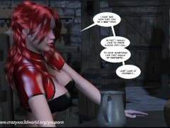 Picture 3D Comic: Crimson Sonja. Episodes 1-2