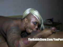 BBC 13inch  monster dick redzilla fucks pierced tattooed freak pussy