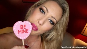 Valentine's day solo with sexy Capri Cavanni