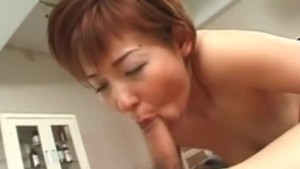 Uncensored Japanese porn - MILF doctor sucking cock