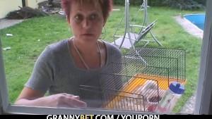 Smart guy fucks granny next door