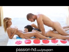 Passion-HD Teen BFFs get fucked in a sexy game