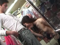 - blowjob fun while shop...