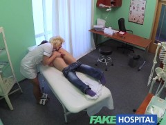 FakeHospital Naughty nurse heals patient with her tongue