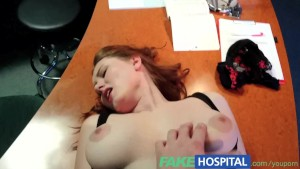 FakeHospital Doctors compulasory health check makes busty temporary hospital assistant pussy wet