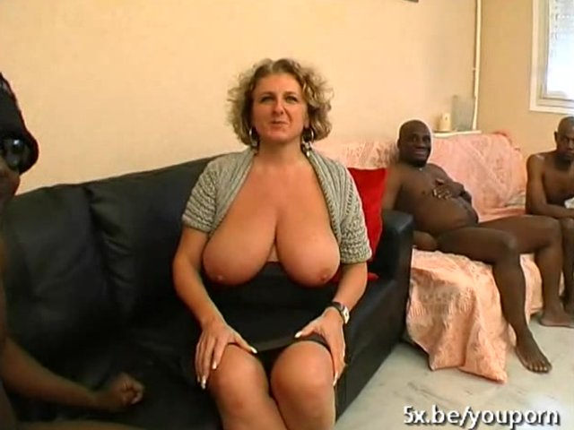 A french mature named lou gangbanged by black cocks 3