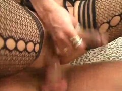 Picture Shemale in fishnets riding cock - Pandemoniu