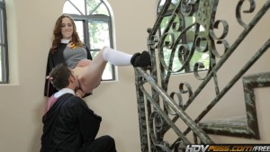 HDVPass Sammy Grand gets fucked hard in school hallway
