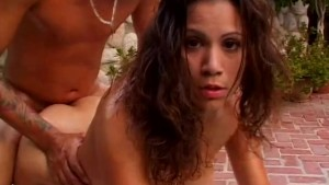 Sexy latina fucked outside - Shock Wave
