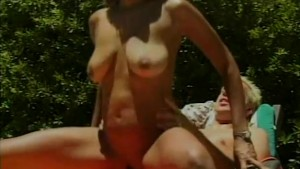 Latina pounded by the pool - Shock Wave
