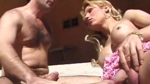 Busty blonde t girl fucking outside - Shock Wave