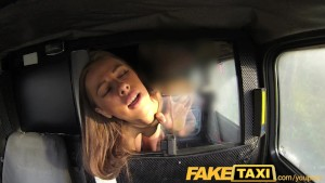 FakeTaxi Teen asks to suck cock for free ride