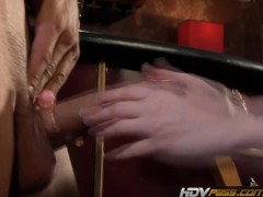 HDVPass Petite redhead cougar Audrey Lords fucks in a Bar