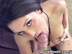 Big Titted porno hottie Dylan Ryder Sucks cock for a spunkmouth