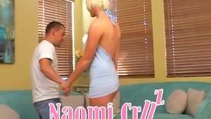 Tall Blonde Naomi Got Her Ass Creamed By A Thin Dick