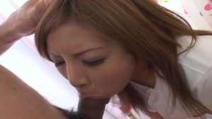 Kana Kawai gets a mouthful of cock uncensored