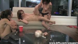 BFFs - First Time Lesbian Group Sex