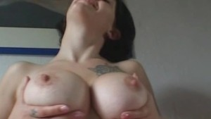 Amateur girlfriend with big tits sucks and fucks