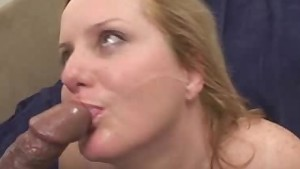 BBW Honey Fucked And Jizzed On In A Threesome