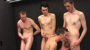 Gay gloryhole group sex - Factory Video