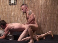 Tattooed guys sucking and fucking - Factory Video