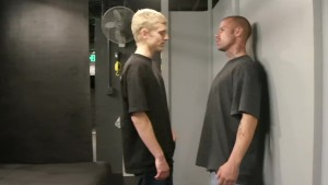 Twink gets man handled - Factory Video