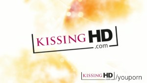 Kissing HD Irresistible teen Brandy Smile swaps saliva with busty goddess