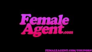 FemaleAgent MILF fucks hot girls boyfriend in front of her on the couch