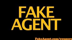 FakeAgent Hot blonde amateur sucks and fucks in Casting