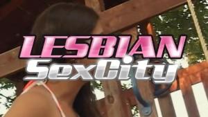 Two Lesbians Fucking In The Backyard