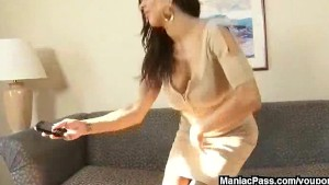 Sharing black cock with a MILF