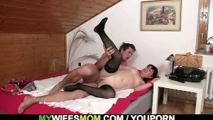 She found hubby fucking my old mom!