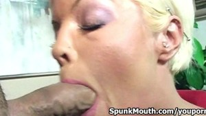 Big Boob MILF sucks cock and tittyfucked hard for a cum facial overload