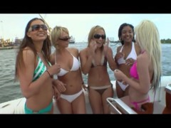 Girls, Oil, And a boat with dildos