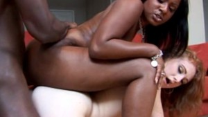 Interracial big booty threesome – Candy Shop