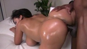 Big ass'd babe gets her pussy pounded by a monster cock