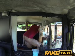 FakeTaxi Petite hot Czech girl in London cab trip