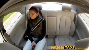 FakeTaxi Teen student with small body talked into sex by night taxi man