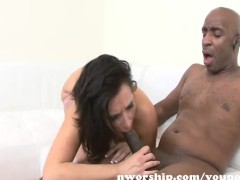 sexy hot milf rides and fucks a big black cock into interracial sex fun