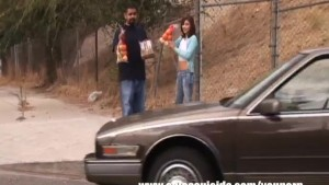 Latina Shortie Got Rough Gangbang By Four Masked Strangers