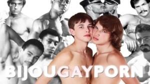 Outdoor Interracial Threeway and Voyeur - Classic 80s Gay Porn STUDENT BODIES